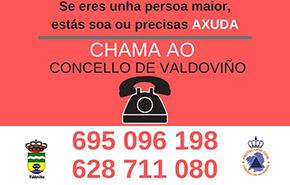 Teléfono sobre o coronavirus